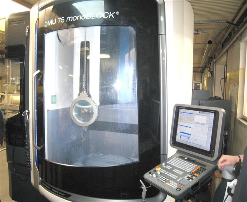Dmg Mori Dmu 75 Monoblock 5 Axis Milling Machine Used Y 2015